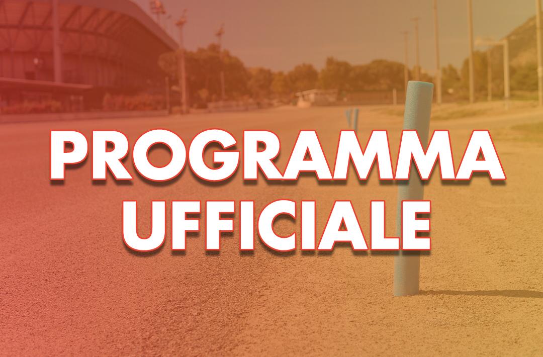 Programma Ufficiale 23 Giugno 2021